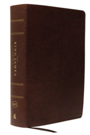 Bonded Leather Brown Thumb Index
