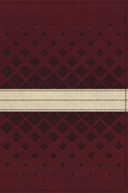 Imitation Leather Red / Tan Book Thumb Index