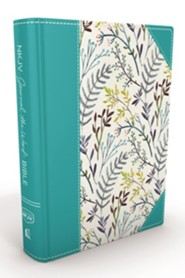 Hardcover Blue Large Print Floral