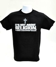 It's Not About Religion Shirt, Black, Extra Large