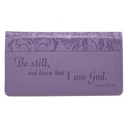 Checkbook Cover Purple Be Still