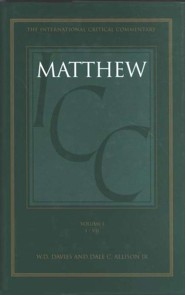 Matthew 1-7, International Critical Commentary