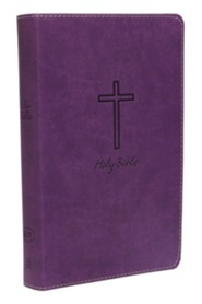KJV, Deluxe Gift Bible, Imitation Leather, Purple, Red Letter Edition