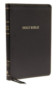 KJV, Thinline Bible, Standard Print, Imitation Leather, Black, Red Letter Edition