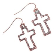 Open Box Cross Earrings