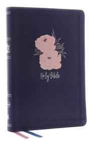 NKJV Thinline Bible Large Print Imitation Leather, Blue and Pink