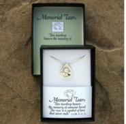 Memorial Tear, Sterling Silver Sculpted Pendant