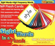 Sight Words in a Flash Set 3, Advanced, Grades 2-3