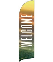 Phrases Welcome Flag Banner