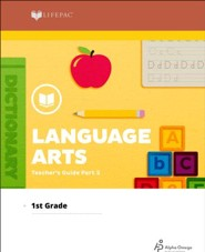 Lifepac Language Arts Grade 1 Teachers Guide Pt. 2