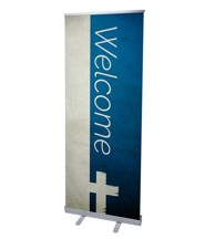 Color Block Welcome (31 inch x 79 inch) RollUp Banner