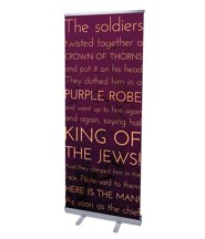 Holy Words Crucifixion (31 inch x 79 inch) RollUp Banner