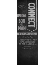 Chalkboard Art Connect (2' x 6') Vinyl Banner