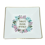 Best Mom Ever Ceramic Tray, White