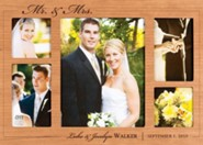 Personalized, Mr and Mrs Photo Frame, Cherry