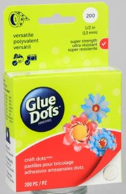 Glue Dots 1/2, Package of 200