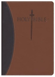 Imitation Leather Brown Large Print Book Red Letter two-tone