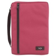 Canvas Bible Cover, Solid Fuchsia, Extra Large