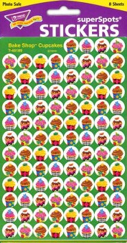 Bake Shop Super Cupcakes SuperSpot Stickers