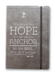 We Have This Hope As An Anchor Lux-Leather Journal, Black