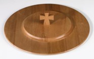 Pecan Finish Wood Communion Tray Lid