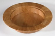 Pecan Finish Wood Stacking Bread Plate