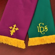 Bookmark with IHS , Purple & Green