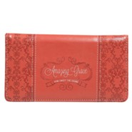 Amazing Grace Checkbook Cover, Coral