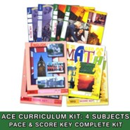 ACE Core Curriculum (4 Subjects), Single Student Complete PACE & Score Key Kit, Grade 2, 3rd Edition (with 4th Edition Science & Social Studies)