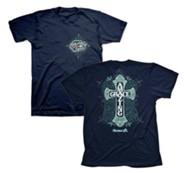 Amazing Grace Cross Shirt, Navy, Large