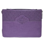 Trust Bible Cover, Lux-Leather, Purple, Large