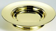 Solid Brass Stacking Bread Plate (Christian Brands)