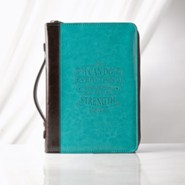 I Can Do Everything Bible Cover, Lux-Leather, Blue, Medium