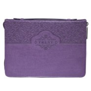 Trust Bible Cover, Lux-Leather, Purple, Medium