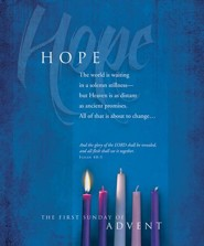 Advent Large Bulletin, Hope (Isaiah 40:5) Bulletins, 100