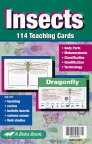 Abeka Insects Flashcards (set of 114 cards)
