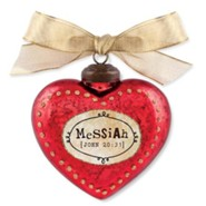 Messiah, Heart Ornament, Red