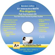 A+ Interactive Math Full Curriculum Pre-Algebra (Grade 7) Standard Edition on CD-ROM