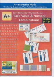 A+ Interactive Supplemental Math: Early Elementary Number Sense Place Value and Number Combinations on CD-ROM