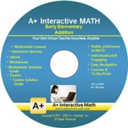 A+ Interactive Supplemental Math Early Elementary Addition on CD-ROM