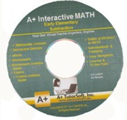 A+ Interactive Supplemental Math Early Elementary Subtraction on CD-ROM