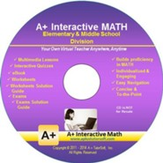 A+ Interactive Supplemental Math Elementary & Middle School Division on CD-ROM