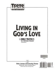 BJU Bible Truths 5: Living in God's Love Tests