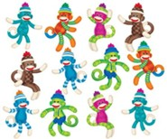 Sock Monkeys (Patterns) Mini Accents Variety Pack (36 Pieces)