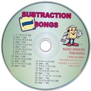 Audio Memory Subtraction Songs CD Only