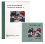 IEW Student Writing Intensive: Continuation Course, Level A 9 DVDs, 1 Student Packet