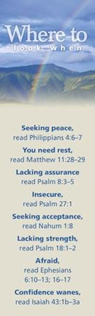 Where to Look When: Seeking Peace, Topic Bookmarks, 25