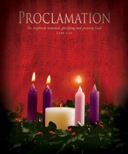Proclamation (Luke 2:20) Large Advent Bulletins, 100