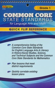 Quick Flip Common Core State Standards, Grade 1