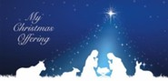 Silhouette Christmas Holy Family Christmas Offering Envelopes, Pack of 100